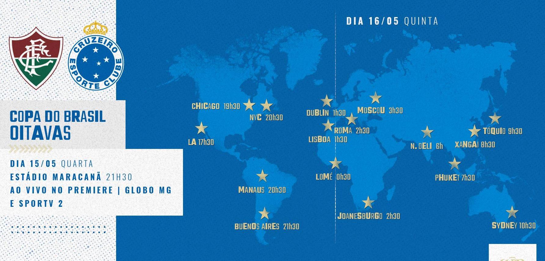 horários do jogo fluminense x Cruzeiro ao vivo pelo mundo