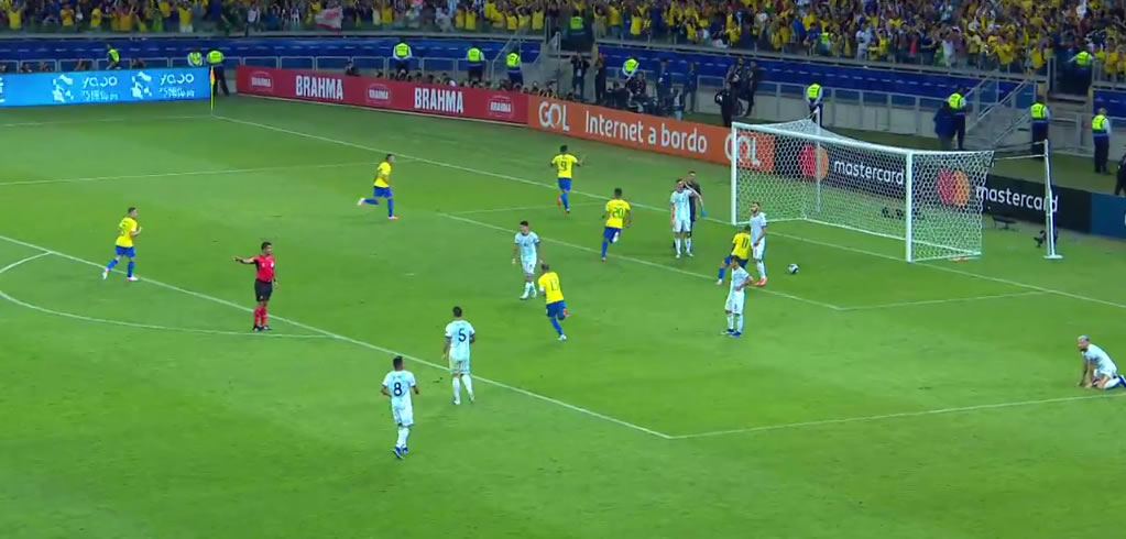 gol do brasil argentina copa america 2019