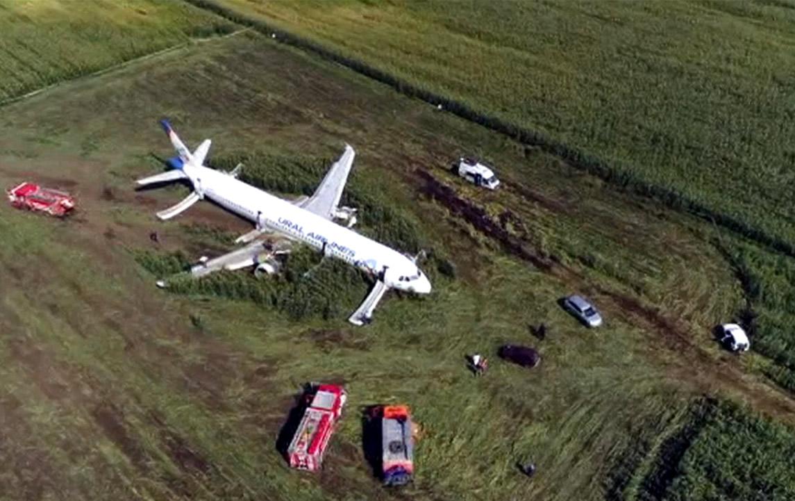 ural airlines pouso de emergencia